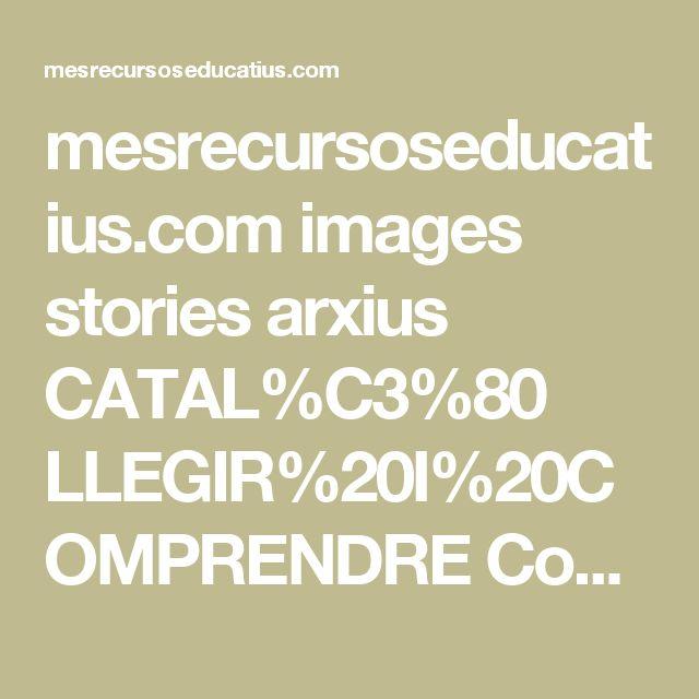 mesrecursoseducatius.com images stories arxius CATAL%C3%80 LLEGIR%20I%20COMPRENDRE Comprensi%C3%B3%20lectora CI%20Petits%20textos%20de%20comprensi%C3%B3%20lectora%20-%20CEIP%20Agn%C3%A8s%20Armengol.pdf