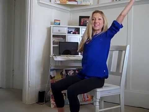 Total Body Seated Exercises You Can Do At Work for Energy.