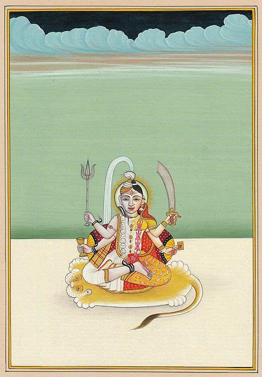 "Brahma with Saraswati, Vishnu with Lakshmi by Kailash Raj    ""Shiva is Brahma and the goddesss Parvati, having half of his body is Saraswati. Shiva is Vishnu and the great goddess Parvati is Lakshmi. (Linga Purana II.11.7)."""