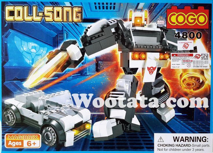 "Mainan Anak Block Lego Cogo 4800 Mainan anak Block Lego Cogo 4800 adalah mainan block yang dapat dibentuk menjadi 2 bentuk sekaligus yaitu robot dan mobil. Mainan anak Building Block Cogo 4800 ini diadaptasi dari film robot ""Transformers"" yang bisa berubah-rubah bentuk dari robot menjadi mobil. Tentunya anak-anak yang menggemari…"