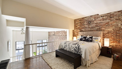 17 best images about cottage on pinterest stove brick for Bedroom w brick wall