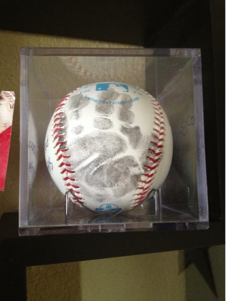 baseball baby keepsake