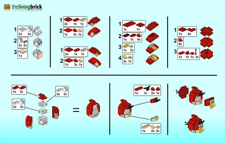 "LEGO Angry Bird ""Mini"" - Instructions"