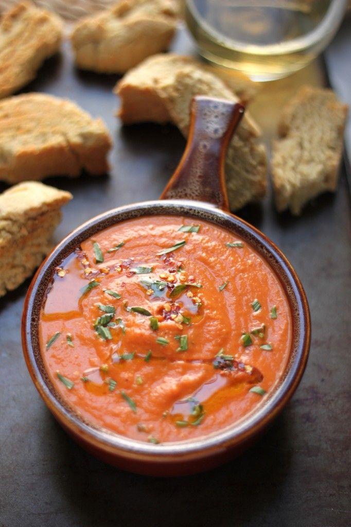 Creamy Tomato and Tarragon Soup w Parmesan Black Pepper Biscotti ...