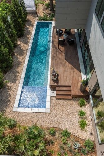 How I itch for some laps! modern pool by TaC studios, architects