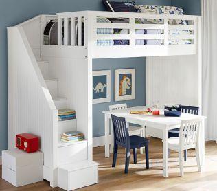 おしゃれな「ロフトベッド」を海外から集めました! - POPTIE 出典:www.potterybarnkids.com. おしゃれな階段がついたベッド