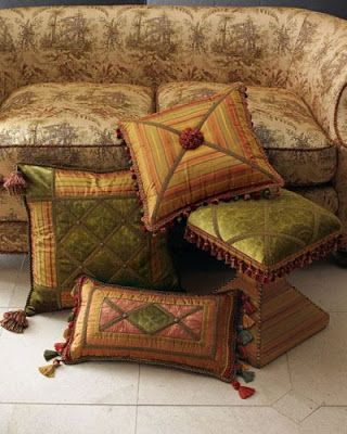 Gorgeous pillows...silk?