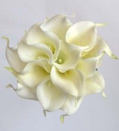 Soft Touch Ivory Calla Lily Bridesmaids Wedding Posy Bouquet