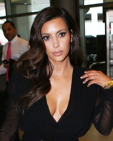 kim kardashian side part hair - Google Search