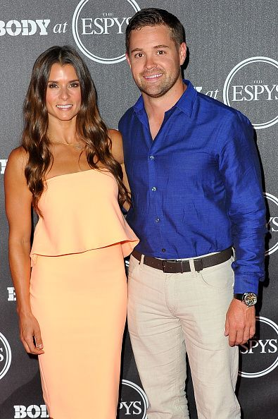 Professional race car drivers Danica Patrick and Ricky Stenhouse Jr attend BODY At The ESPYs PreParty at Avalon Hollywood on July 12 2016 in Los...
