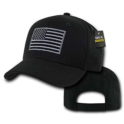 Rapdom Tactical USA Embroidered Operator Cap Black
