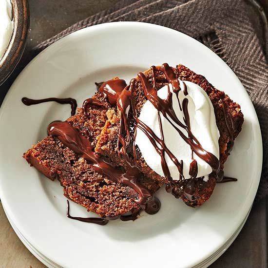 Triple Chocolate Bread What Goes Best With Chocolate What Goes Best With Our Triple Chocolate Bread Whipped Cream Chocolate Sauce And A Glass Of Cold