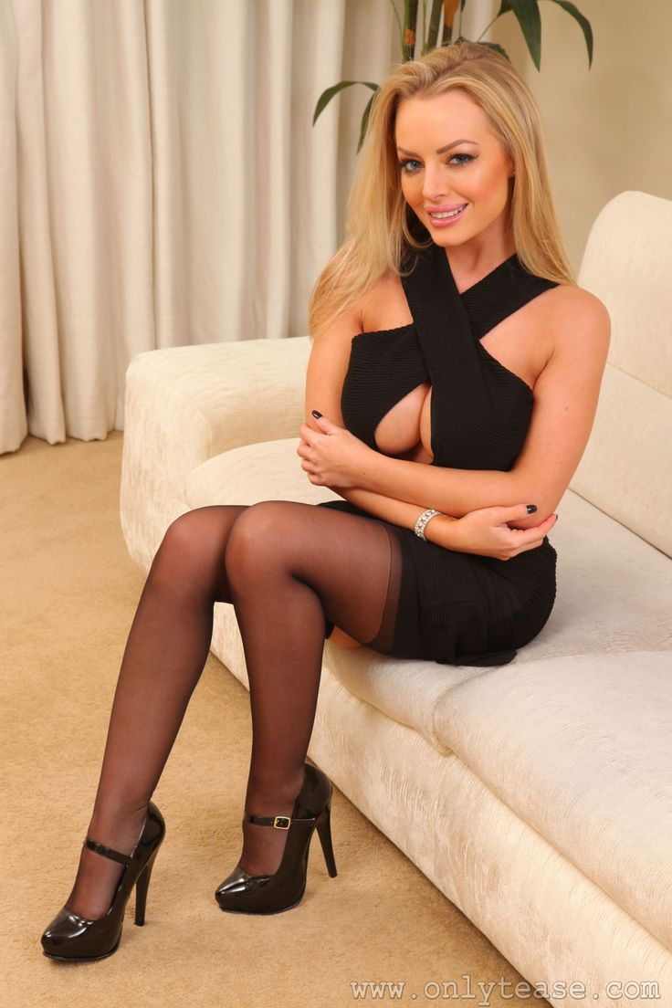 image Hannah claydon as secretary showing cleavage