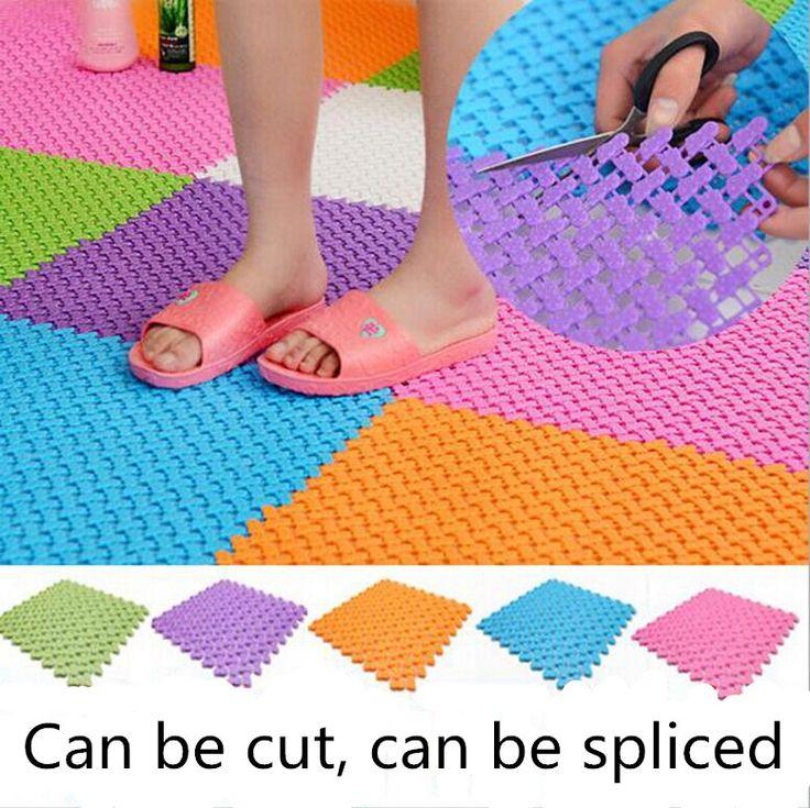diy tapis 2424 cm couleurs de bonbons en plastique tapis de bain facile salle - Tapie Salle De Bain Aliexpress