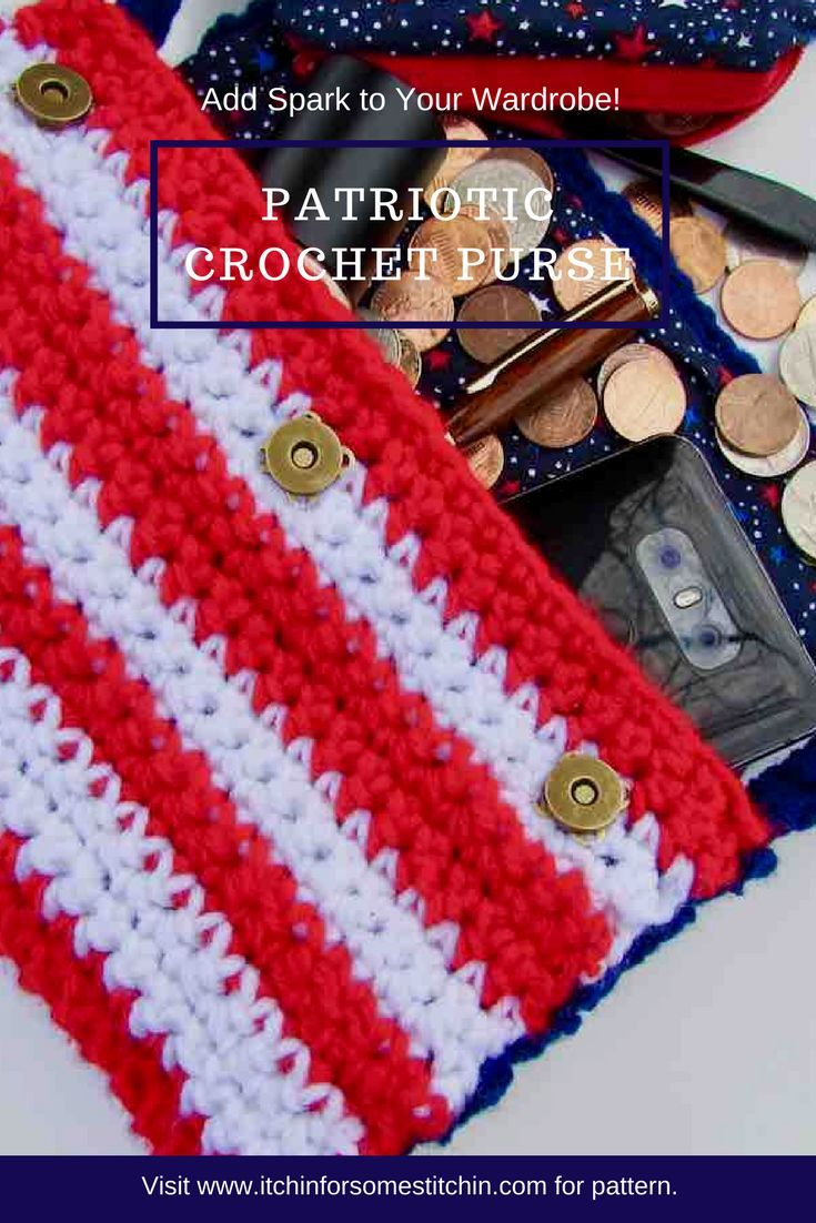 efde8159dbf3f Crochet Fourth of July Purse