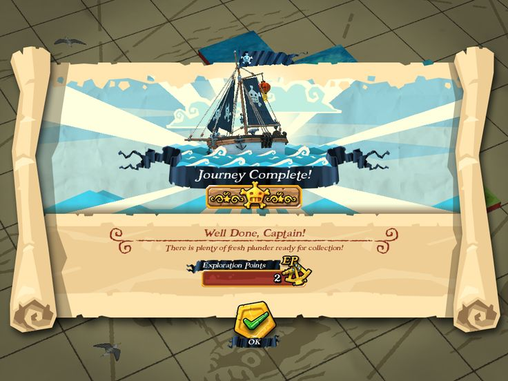 Plunder Pirates by Midoki - Arrive At Map - Game UI HUD Interface Art iOS Apps