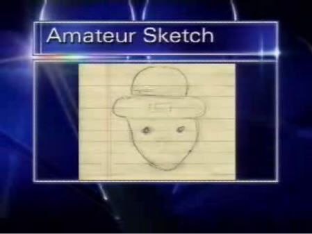 """Amateur sketch of a """"leprechaun"""" spotted in Alabama. That's why I love the south."""