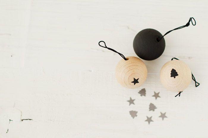 Adornos Navideños, DIy, Bolas de Madera para el arbol de Navidad