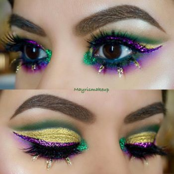 Here are 13 Mardi Gras-inspired makeup looks that are guaranteed to stop traffic