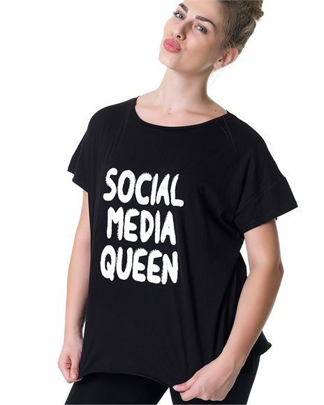 Curvy T-shirt με τύπωμα
