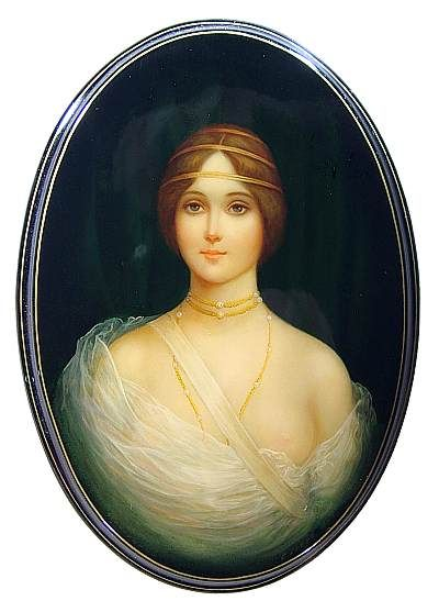 """Young Lady's Portrait"" Lacquer Art By Svyatchenkov ( Fediskino)"