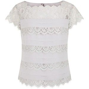 Jacques Vert Lace & Pleat Layer Top