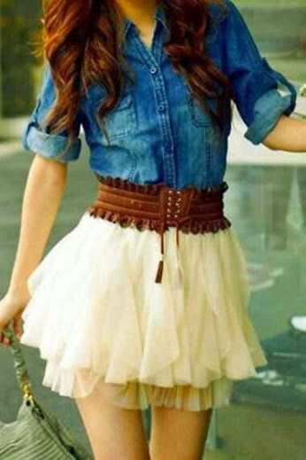 """Just remember... Fashion doesn't have to be what is """"IN"""" It can totally be your own style This outfit is unique and cute!! Try inventing outfits that represent your personality!"""