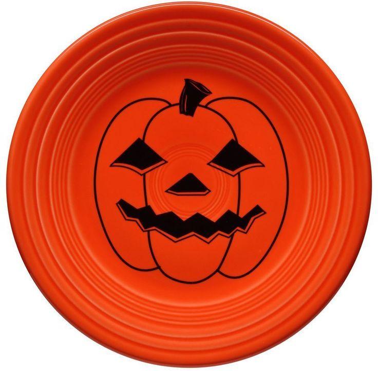 """Fiestaware 9"""" Luncheon Plate - Spooky Pumpkin #Fiestaware"""
