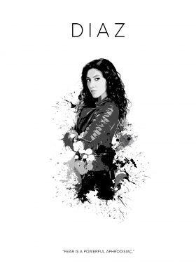 prints on metal Movies & TV rosa diaz brooklyn 99 nine police badass bitch black white jake peralta