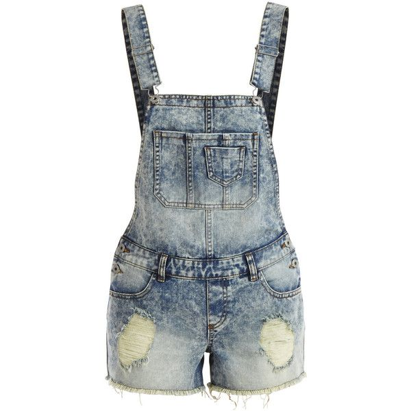 Vila Viprina - Denim Playsuit ($44) ❤ liked on Polyvore featuring jumpsuits, rompers, shorts, overalls, bottoms, jumpsuit, medium blue denim, jump suit, blue romper and denim rompers
