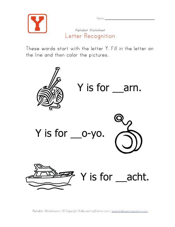 Best Letter YZ Images On   Free Kindergarten