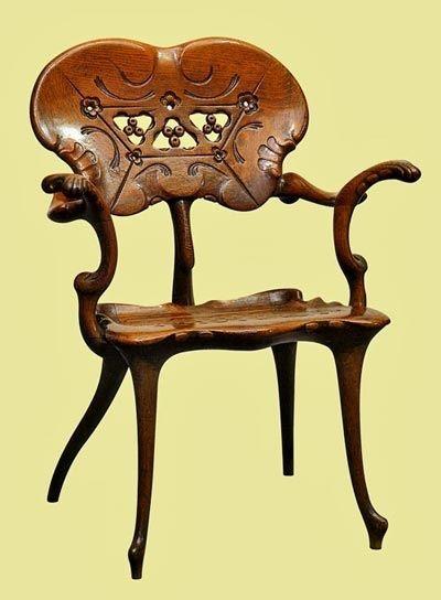 557 best antique chairs chaise longe images on pinterest for Art nouveau chaise