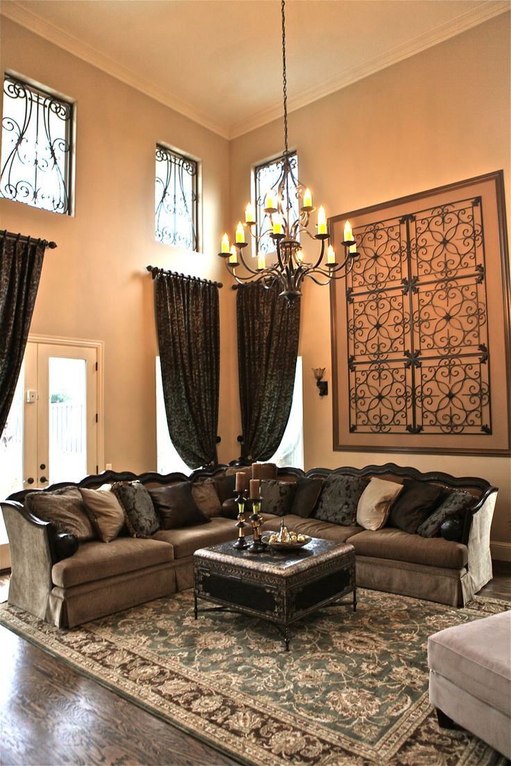 Wrought Iron Living Room Furniture 25 Best Ideas About Tall Ceiling Decor On Pinterest Model Homes