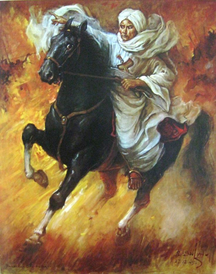 Basuki+Abdullah,+Diponegoro+memimpin+pertempuran,+oil+on+canvas,+150cm+X+120cm-koleksi+bung+karno.jpg (768×973)