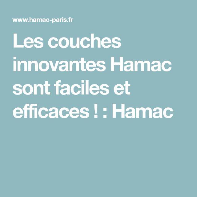 Les couches innovantes Hamac sont faciles et efficaces ! : Hamac