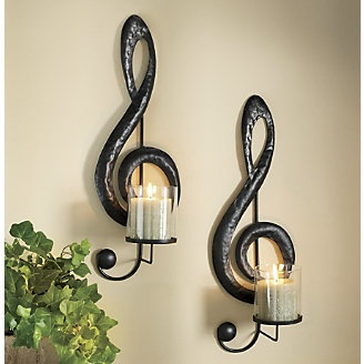 Treble Clef Sconces, Set of 2 from Ginny's ®