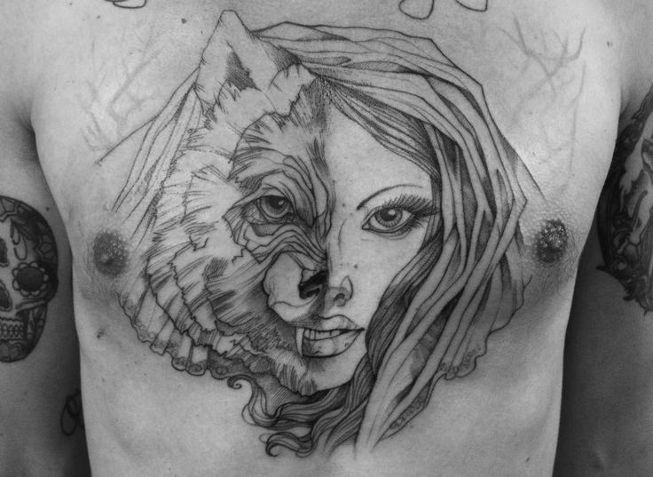 Pin By Jens Meurer On Tattoo: Wolves, Girls And Wolf Girl