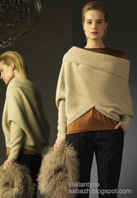 СТИЛЬНОЕ ВЯЗАНИЕ: Вязаные пуловеры от Ballantyne FW 2012-2013