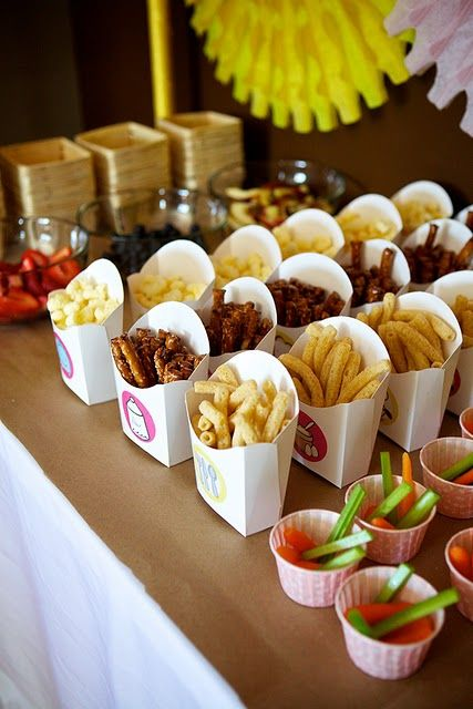 Great way to present your snacks at a party.