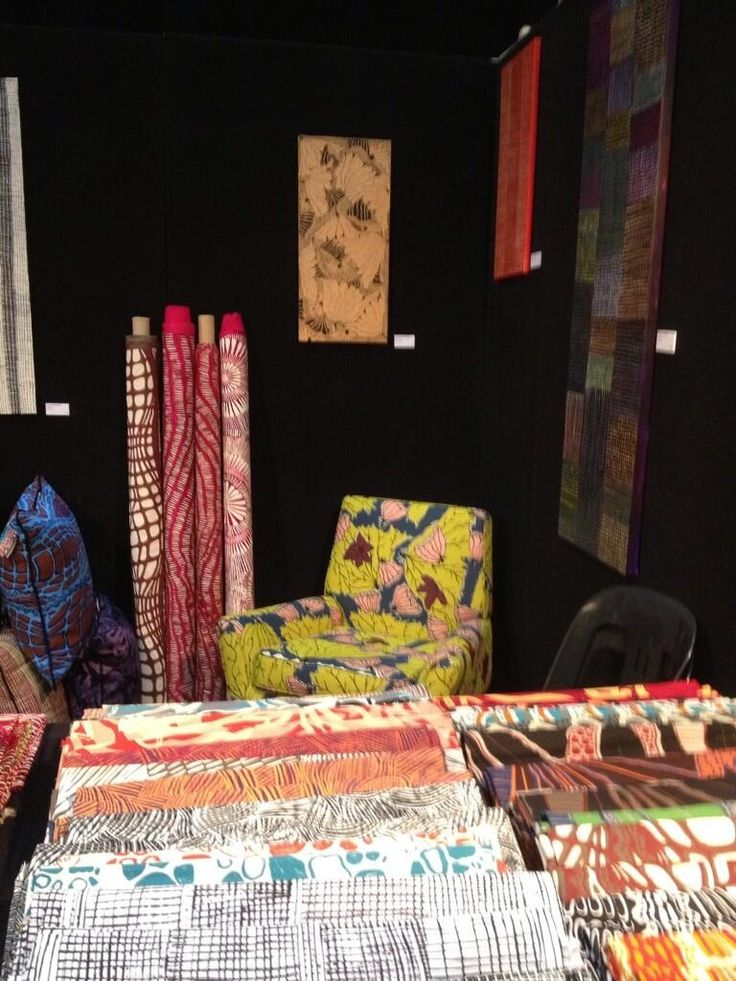 Exhibit stand of Merrepen Arts Centre at the 2013 Darwin Aboriginal Art Fair
