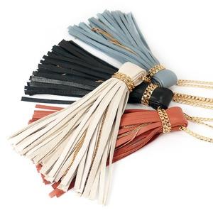 leather tassle necklace
