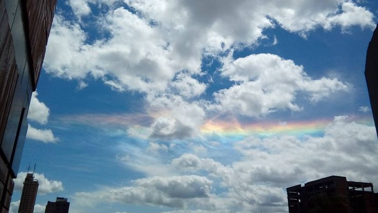 """1 Likes, 1 Comments - David Kamada (@david.kamada) on Instagram: """"A rare """"fire rainbow"""" also known as circumhorizontal arc, as seen from a window at my workplace."""""""
