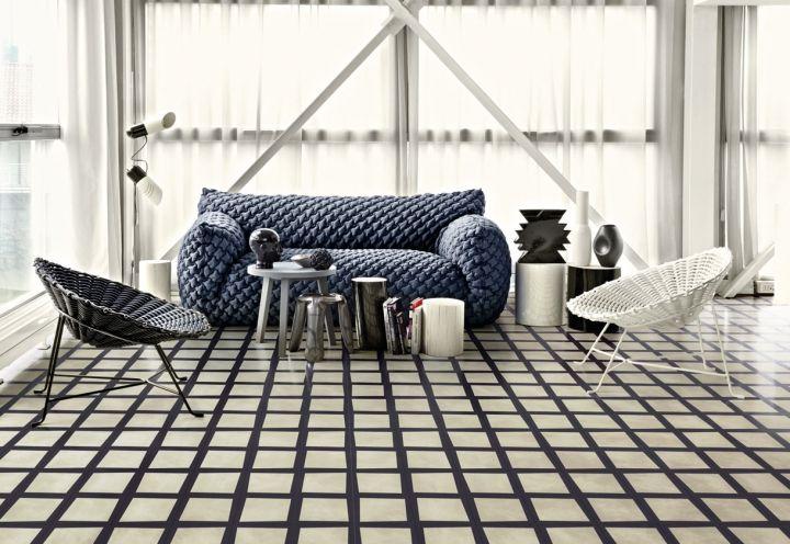 Piastrelle di cemento disegnate da Paola Navone per la nuova collezione Bisazza Contemporary Cement Tiles 2015