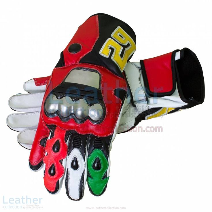 Motorbike Leather Racing Gloves Features, Top grade leather, metal protector with air intakes and exhaust port for cooling BUY NOW https://www.leathercollection.com/en-we/andrea-iannone-motorbike-leather-racing-gloves.html Regular Price $225.00 Special Price $168.75