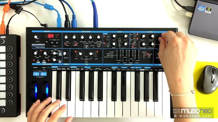 Sound-design z Novation Bass Station 2 - emulacja TB-303
