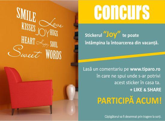 Concurs: Castiga un sticker de perete decorativ si vesel