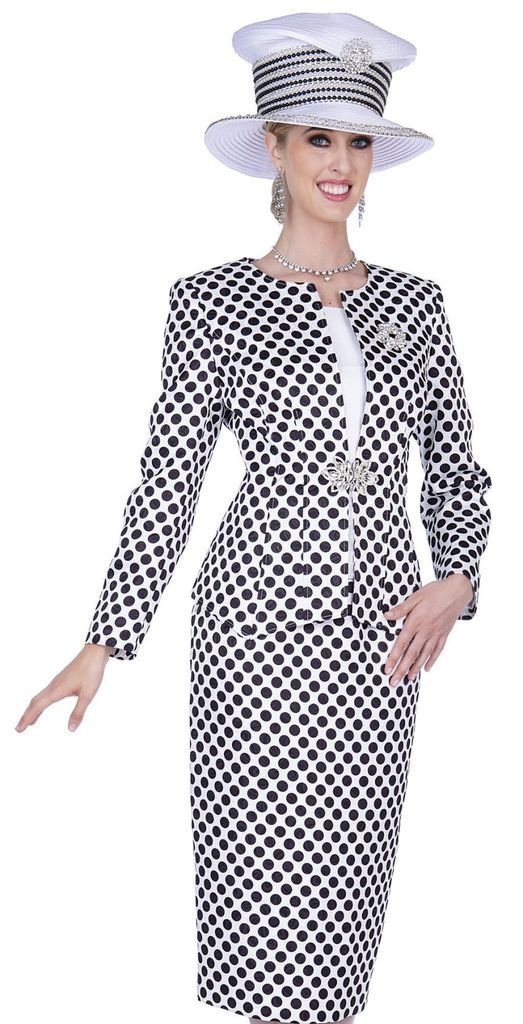 d573adc2049 Champagne Italy 5201-Black White - Church Suits For Less