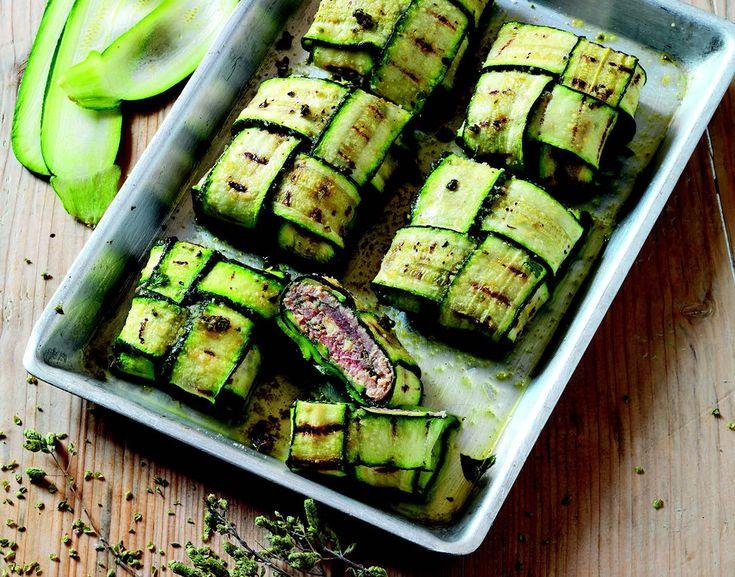 Pacchettini di zucchine con pesce spada/tonno