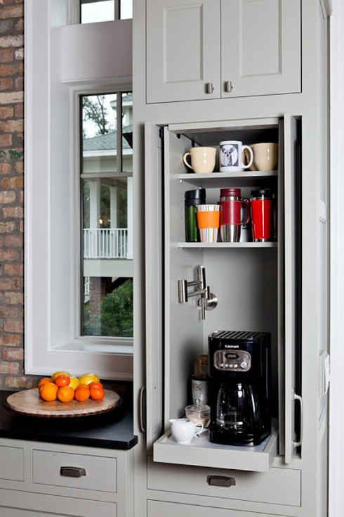 Hide appliances behind sliding doors...33 Insanely Clever Upgrades To Make To Your Home