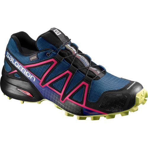 Salomon Women's Speedcross 4 Gore-Tex Trail Running Shoes (Blue/Black, Size 8) - Women's Outdoor Shoes at Academy Sports